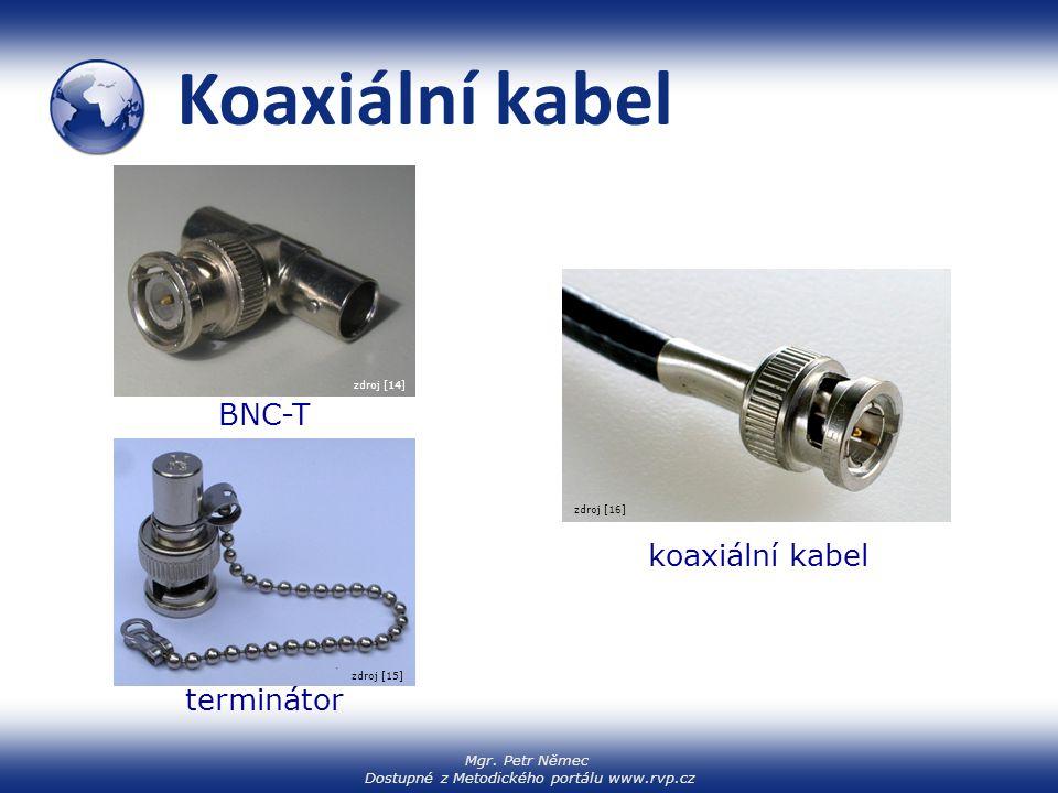 Koaxiální kabel BNC-T koaxiální kabel terminátor zdroj [14] zdroj [16]